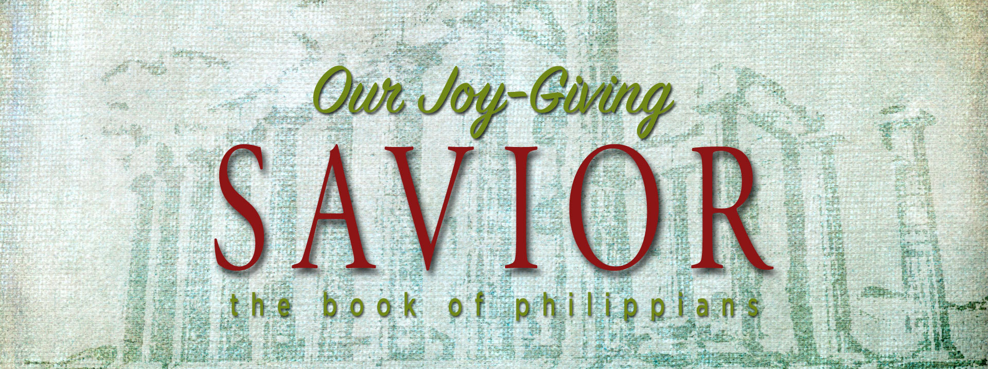 Our Joy-Giving Savior