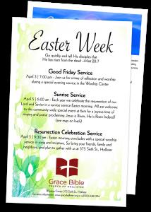Easter Week Schedule